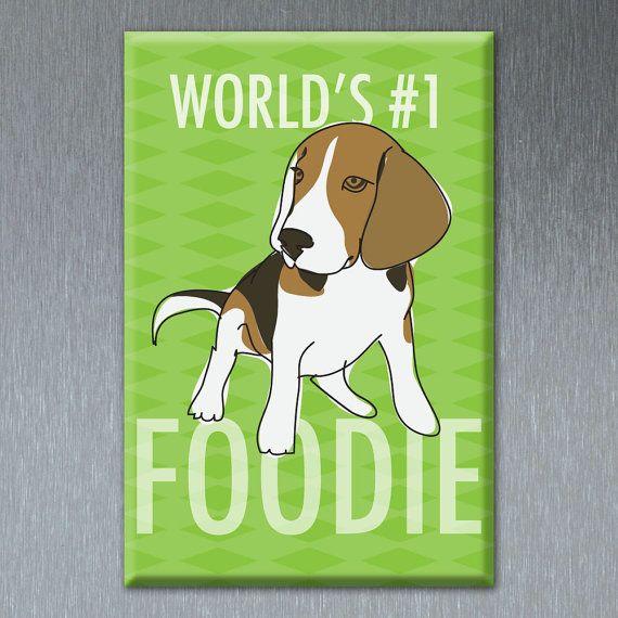 Beagle Magnet Number One Foodie Beagle Gifts Funny Dog Fridge