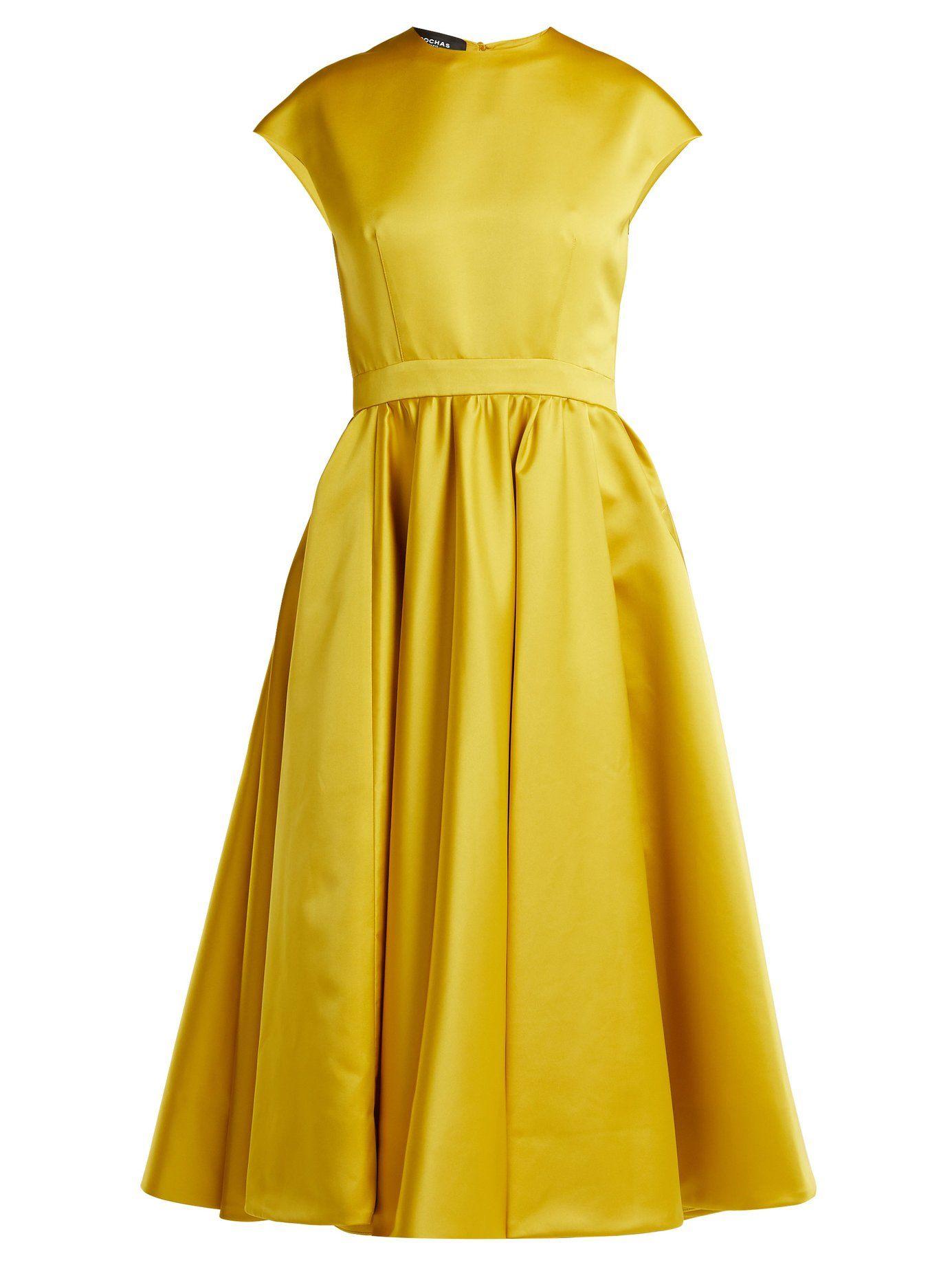 Duchess satin midi dress | Rochas | MATCHESFASHION.COM US