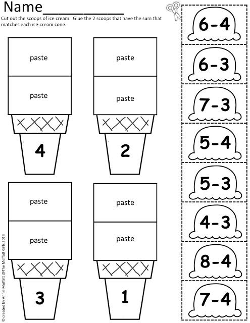 Ice Cream Math Scoops! Perfect summer learning! | KinderLand ...