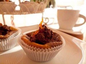 Käsekuchen-Cupcakes mit Orangenschokoladecreme