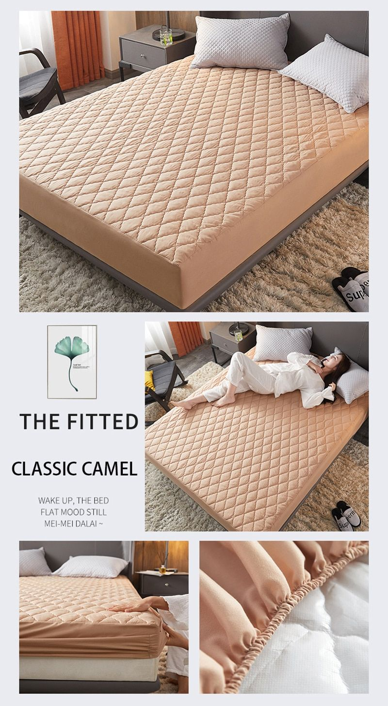 Waterproof Mattress Cover Bed Cover Multicolor Thickened Anti Mite Mat Creationsg Waterproof Mattress Cover Waterproof Mattress Mattress Covers