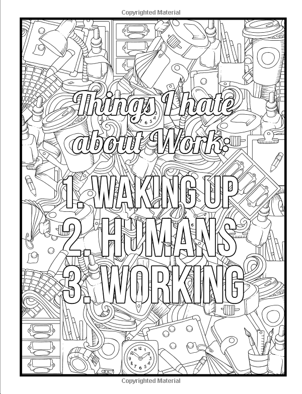 Amazon.com: Office Life: A Snarky Coloring Book For Adults: A Unique &  Funny Antistress Coloring Gift For Cons… Coloring Books, Coloring Book  Pages, Printed Pages