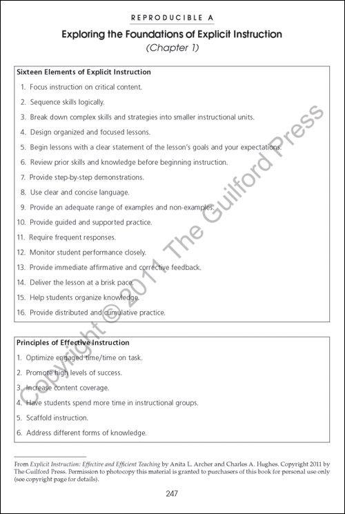 Explicit Instruction Effective And Efficient Teaching Explicit