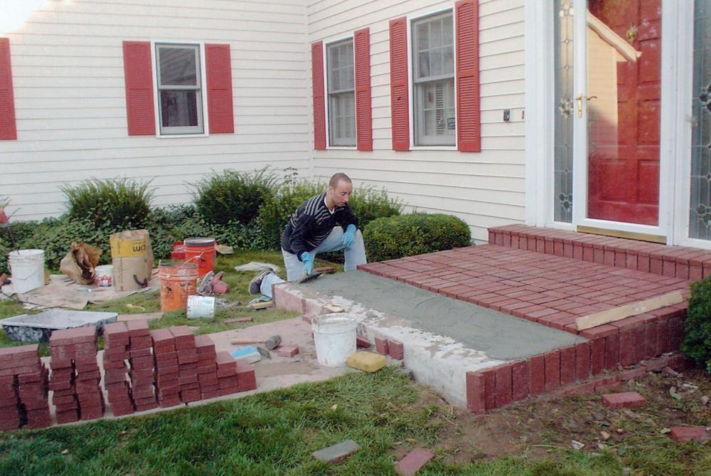 Denver Brick Specialists Concrete Porch Pavers Over Concrete Concrete Patio