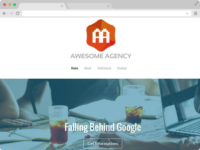 Free Website Templates Html Freehtml5Agencywebsitetemplate  One Page Responsive Bootstrap