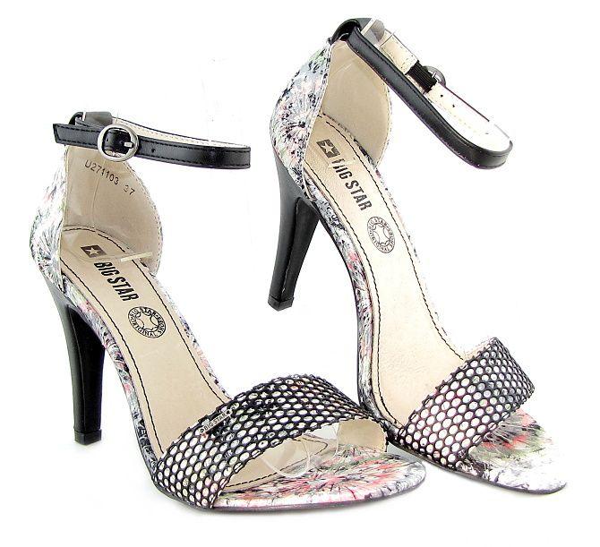 903901249760 Krásne bielo-čierne sandálky s kvetmi BIG STAR • Kabelky-topanky.sk ...