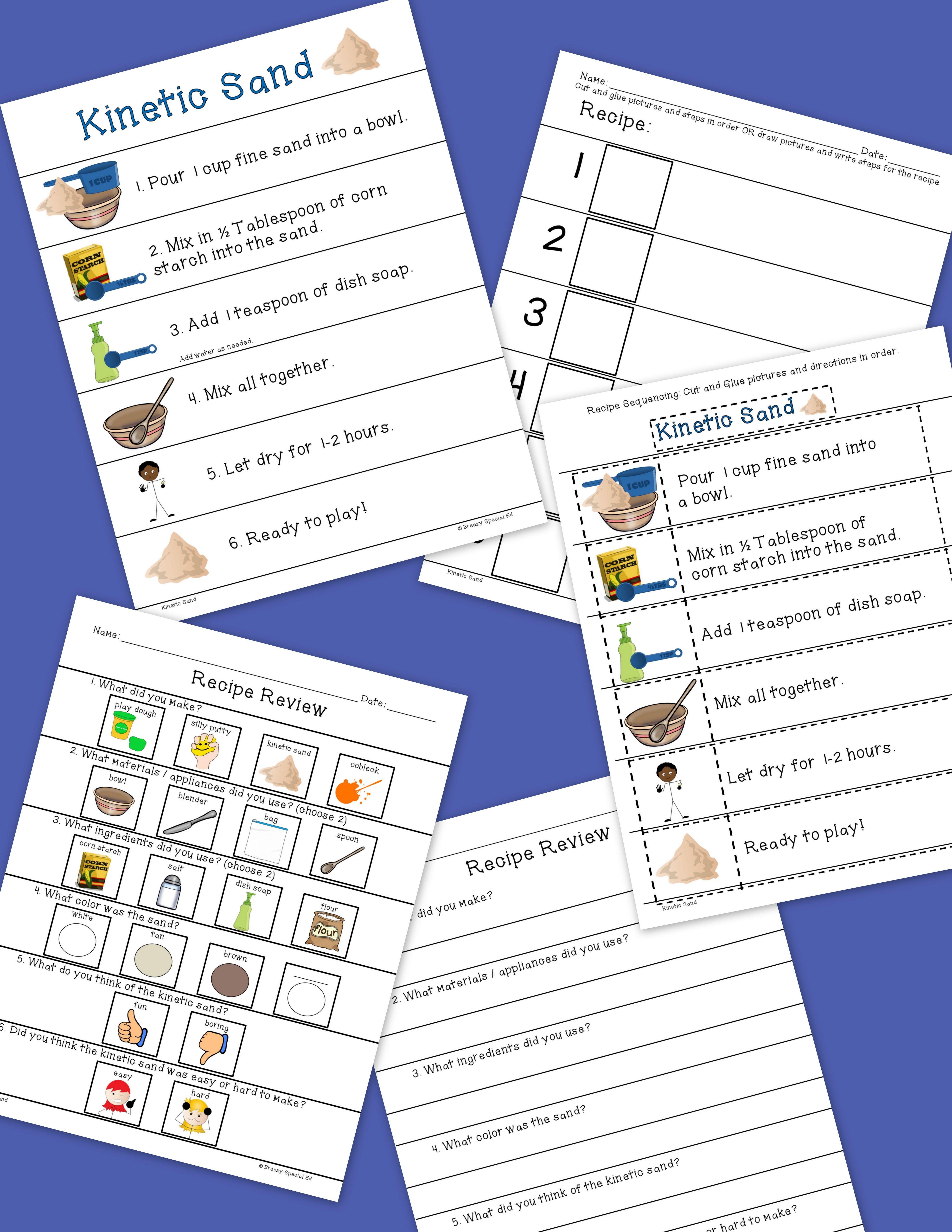 Visual Sensory Recipes For Special Education