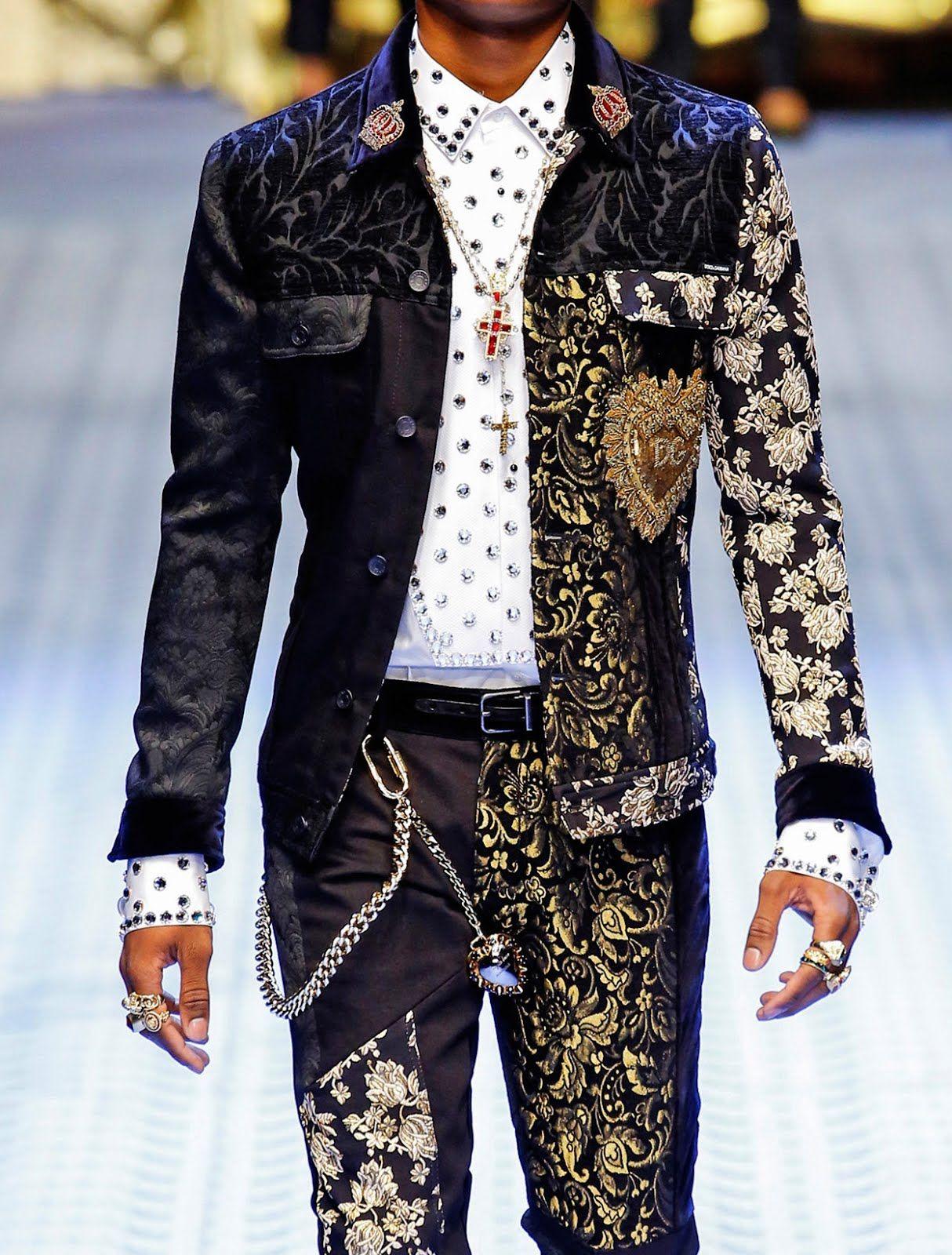 Close Up Dolce Gabbana Spring Summer 2019 Men S Fashion Show
