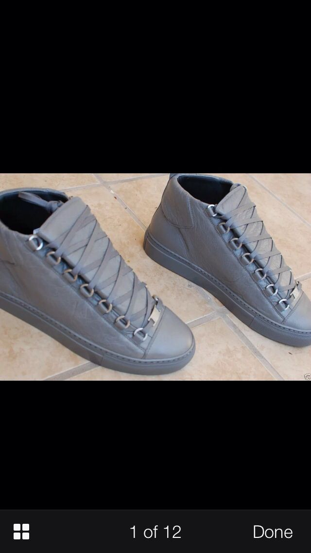 buy popular b26e9 d9f1b Grey Balenciaga Arena High tops