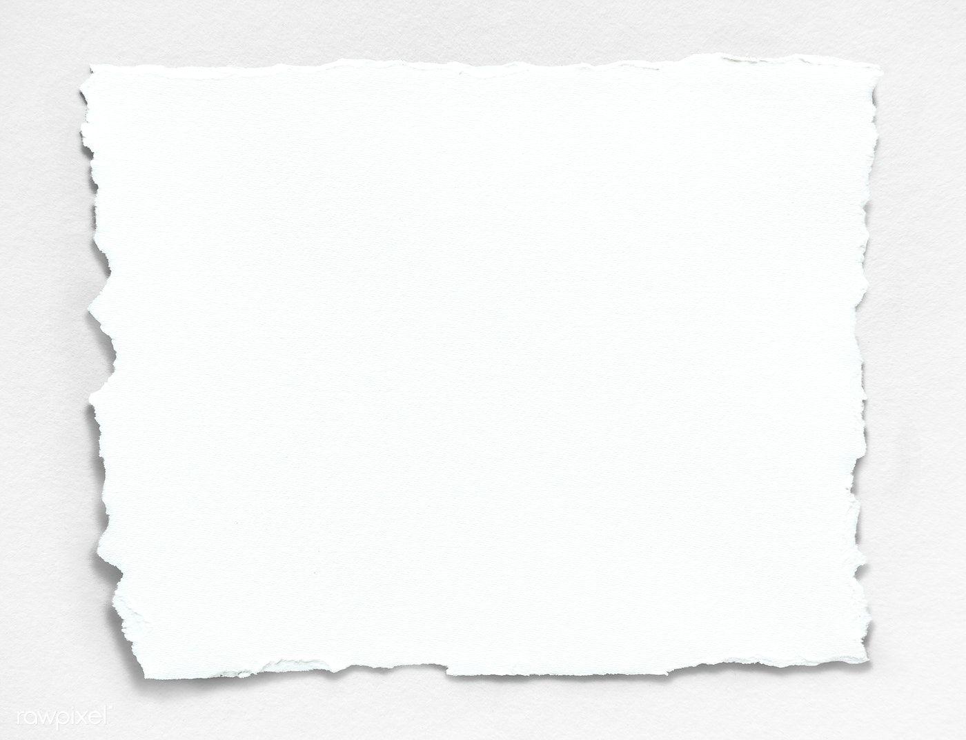 Download Premium Psd Of Blank Torn White Paper Template 1201994 Papel Rasgado Ideias Png