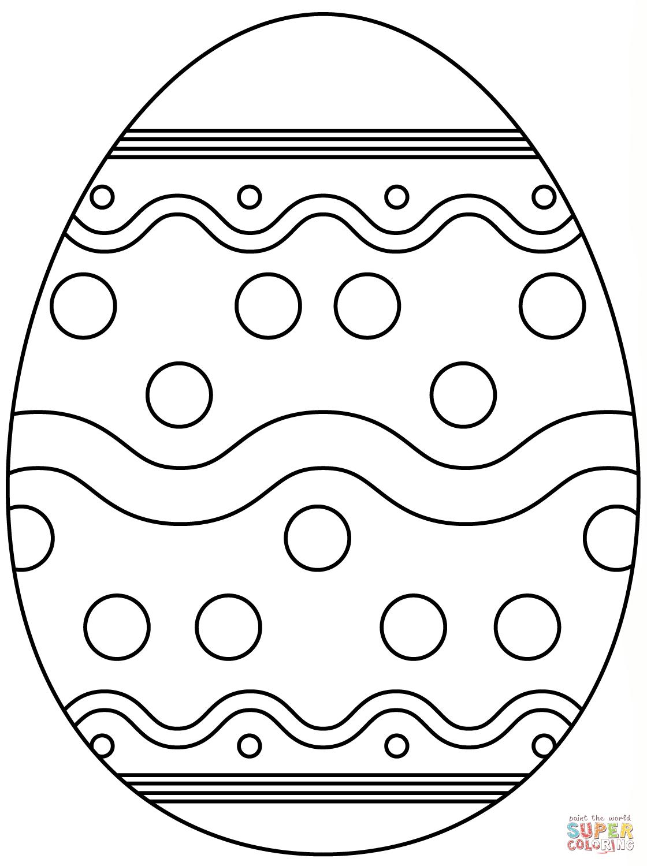 Abstract Coloring Easter Egg Pattern Super Easter Egg With Abstract Pattern Super Coloring Osterei Malvorlage Basteln Ideen Ostern Ostern Zeichnung