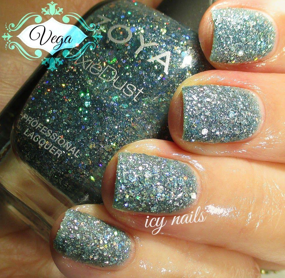 Icy Nails: Zoya Pixie Dust ~ Vega | Nails | Pinterest | Diseños de ...