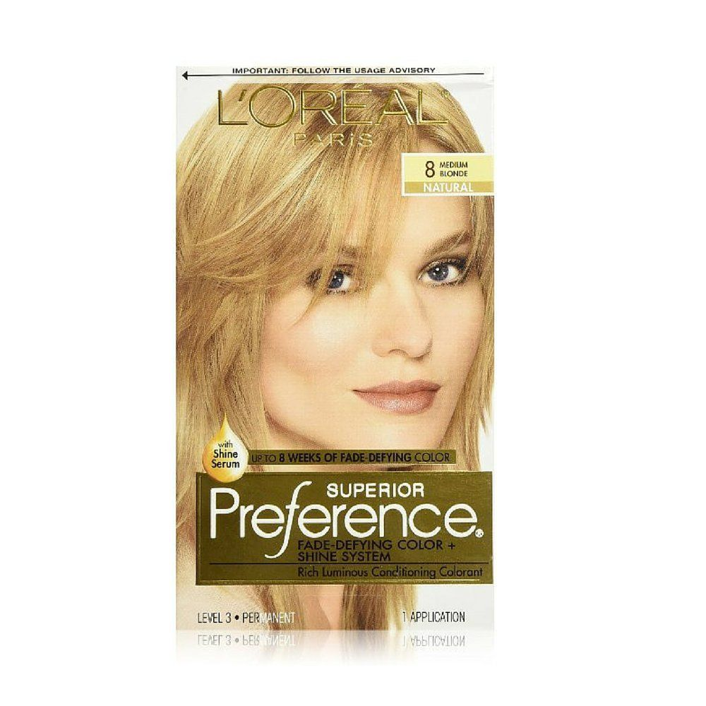 L Oreal Superior Preference Hair Color 8 Medium Blonde Pack Of 2 This Is An Amazon Affiliate Link You Can Find More Deta Loreal Medium Blonde Hair Color