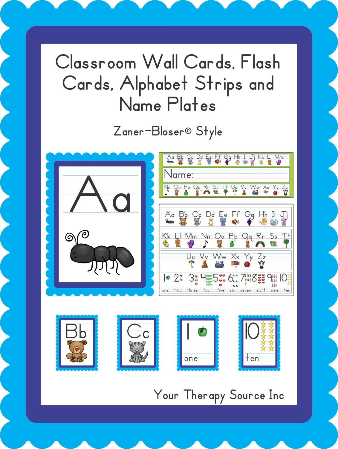 Classroom Wall Cards Flash Cards Alphabet Strips And