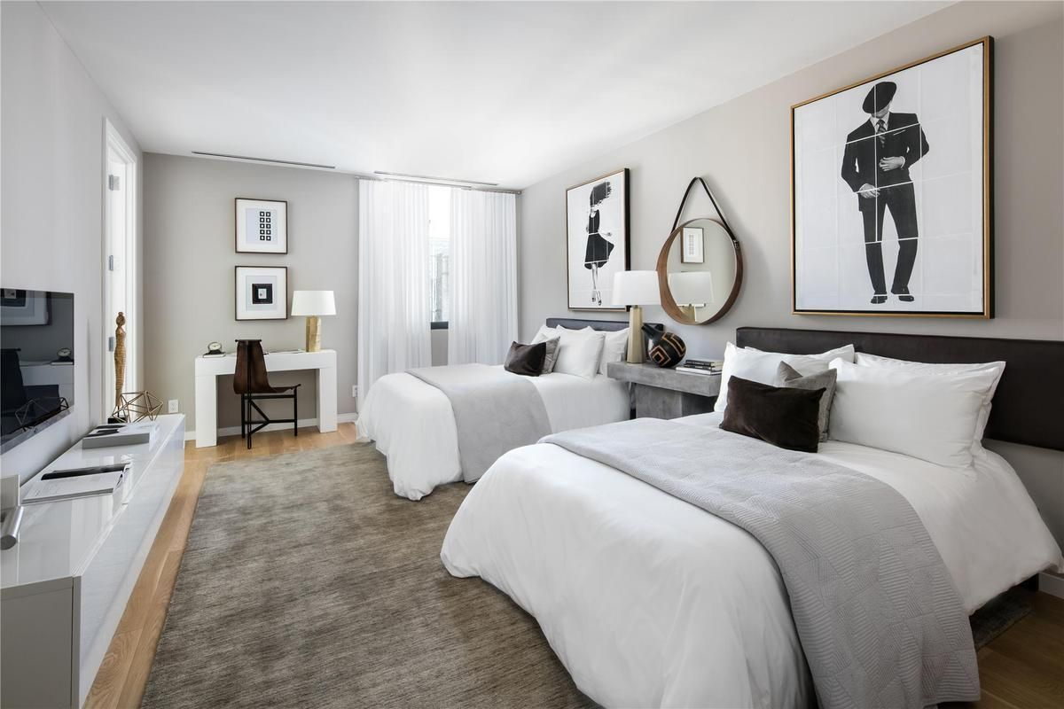Interior marketing group north moore tribeca penthouse bedrooms