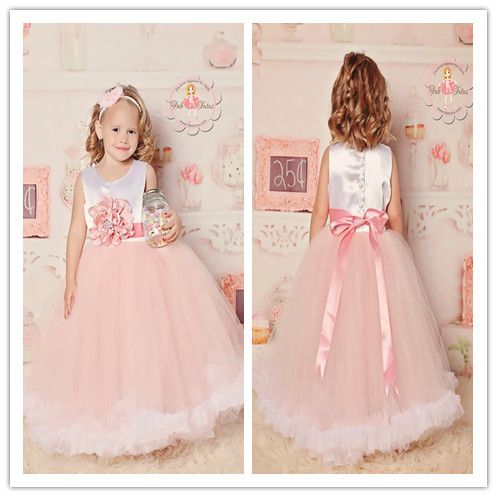 cute pink tulle flower girl dresses for weddings with sashes evening party frocks for kids princess toddler vestido de festa-in Flower Girl Dresses from Weddings & Events on Aliexpress.com | Alibaba Group