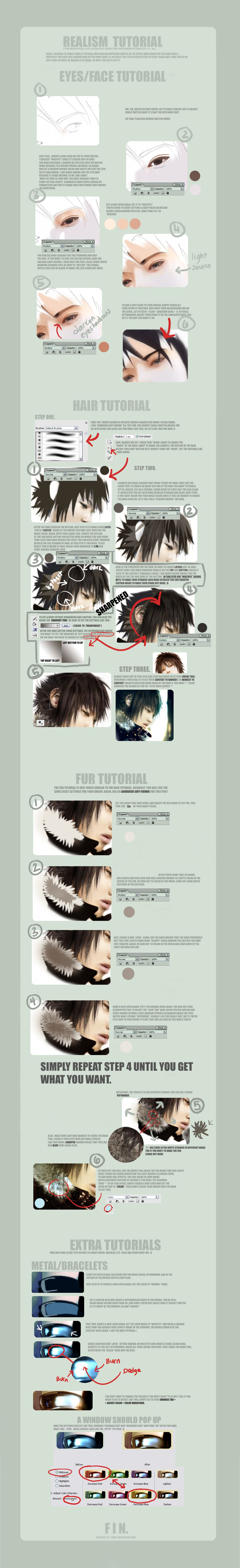 Realism tutorial by yumix on deviantart httpyumixiantart photoshop digital painting tutorial how to create realistic anime portrait realism drawings baditri Image collections