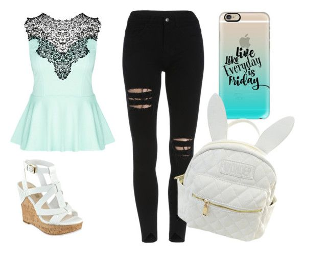 """""""Hi"""" by gracie-13-d ❤ liked on Polyvore featuring City Chic, Casetify, cutekawaii and GUESS"""