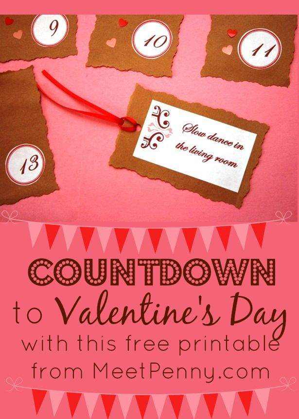 A Romantic Countdown for Couples ~ Free Printables | Free printables