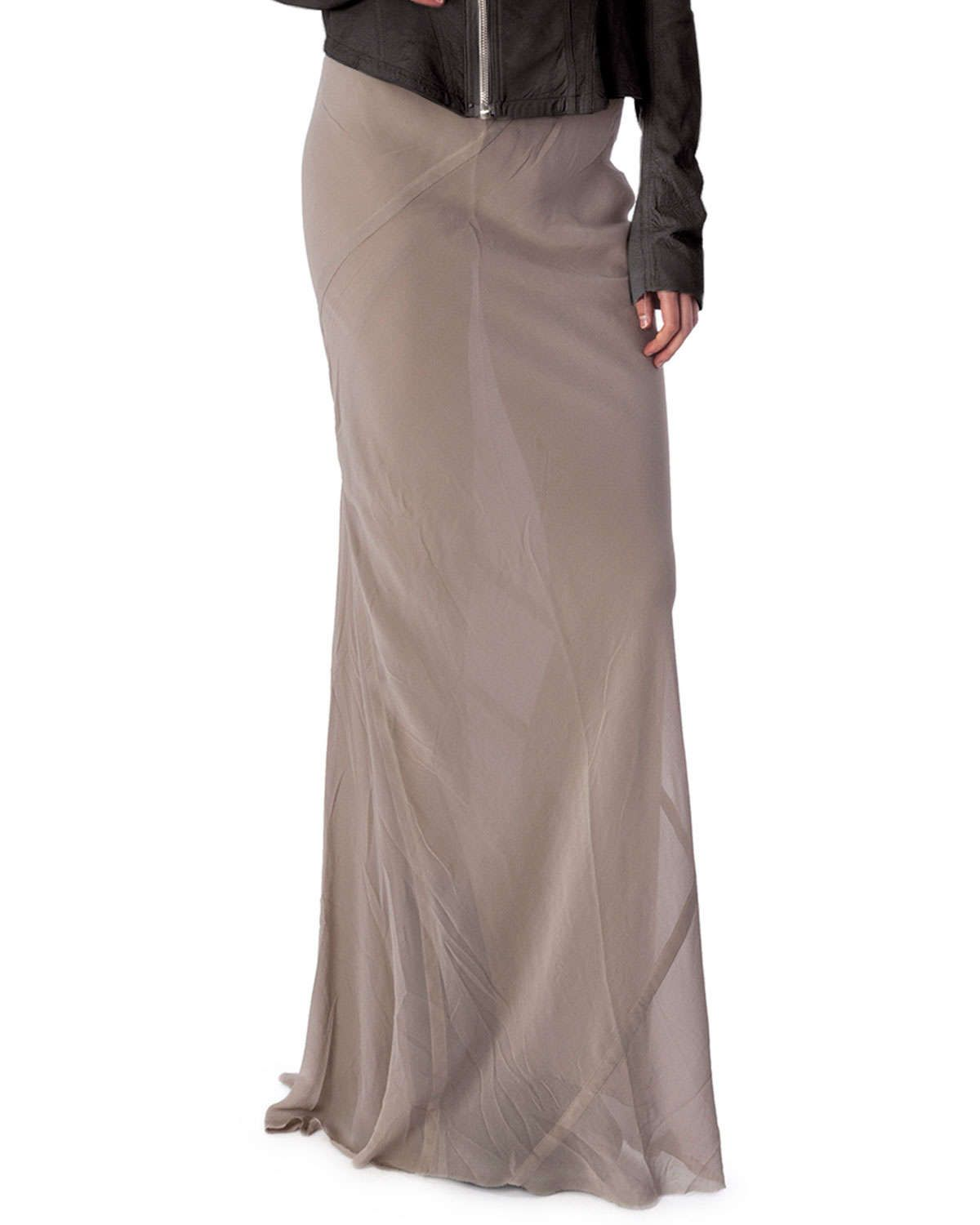 Long Coda Silk Shantung Skirt