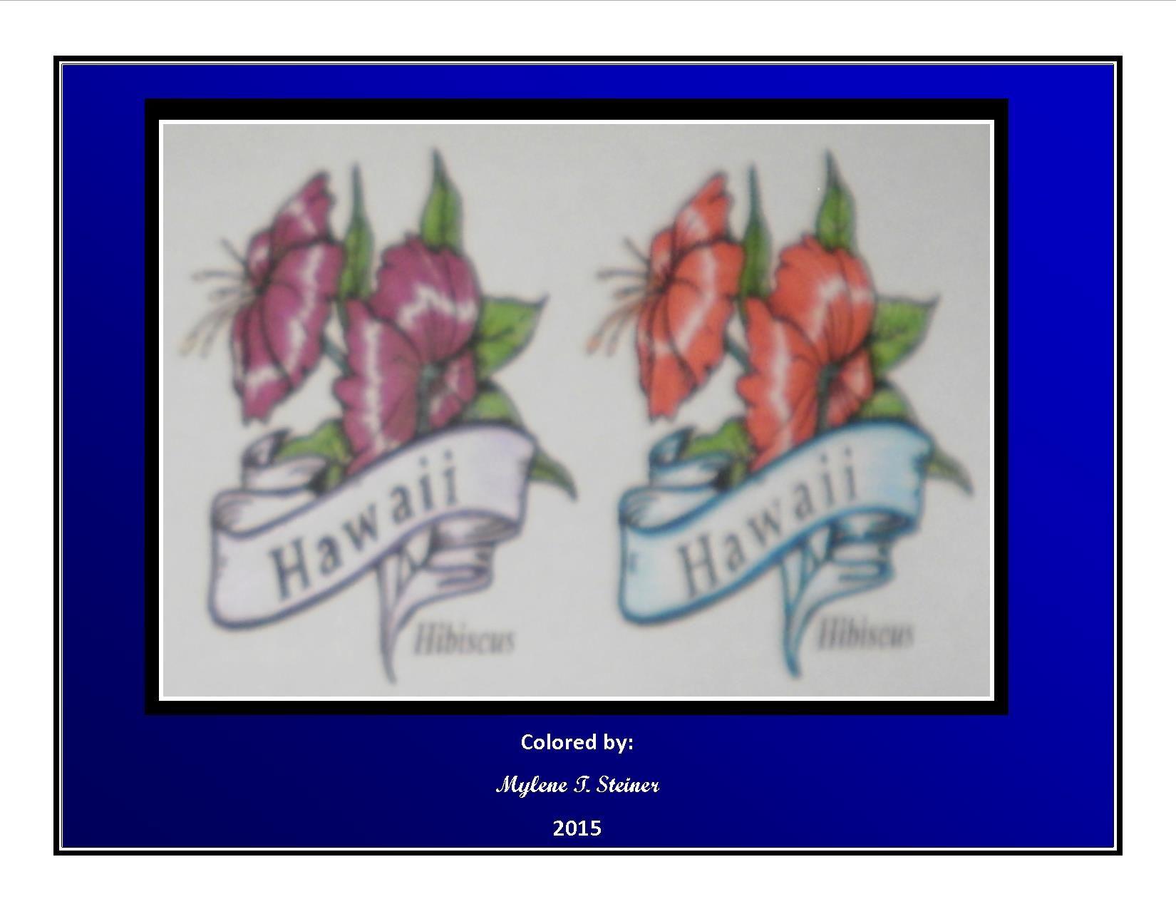 Fantastisch Malvorlagen Von Hawaii Blumen Ideen - Malvorlagen Ideen ...