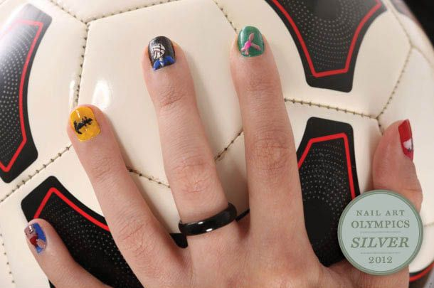 Olympic Nail Art A Cut Team Throwdown 2012 Olympics Games Nails