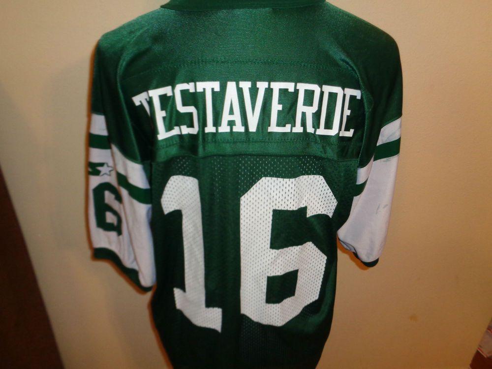 46 Medium VTG Starter Vinnie Testaverde NY New York Jets jersey shirt football #Starter #Shirt