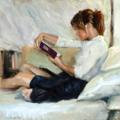 Reading and Art | Reading art, Girl reading book