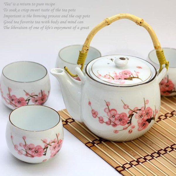 Cherry blossom tea set