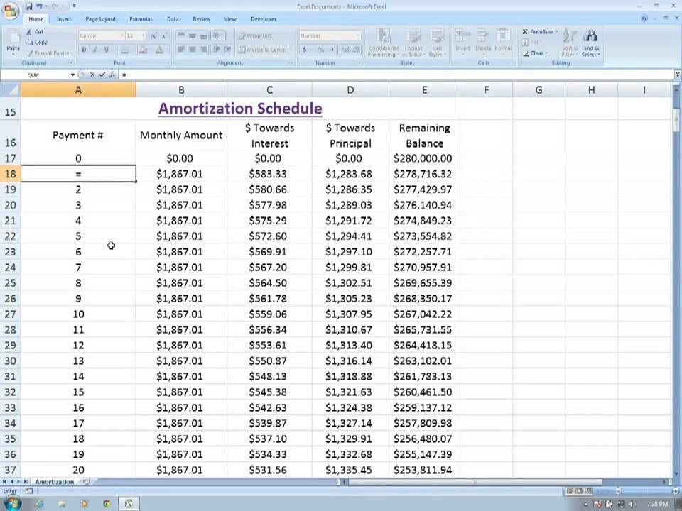 Amortization Schedule Excel Amortization Schedule Excel