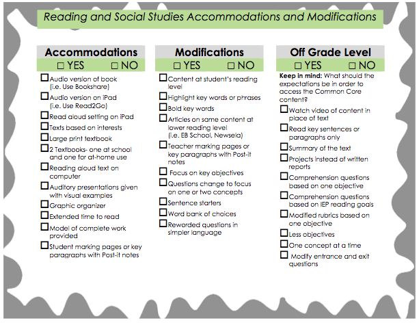 Collaborative Teaching Checklist ~ Inclusion and teaching in chicago accommodation