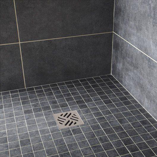 Mosaïque sol et mur Factory noir Salle de bain Pinterest