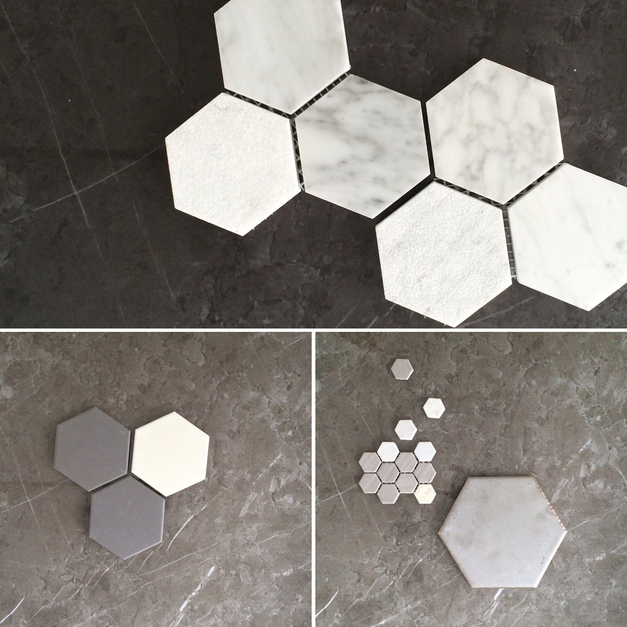 Salle De Bain Parents ~ Hexagons Tiles Pinterest Salle De Bains Et Salle