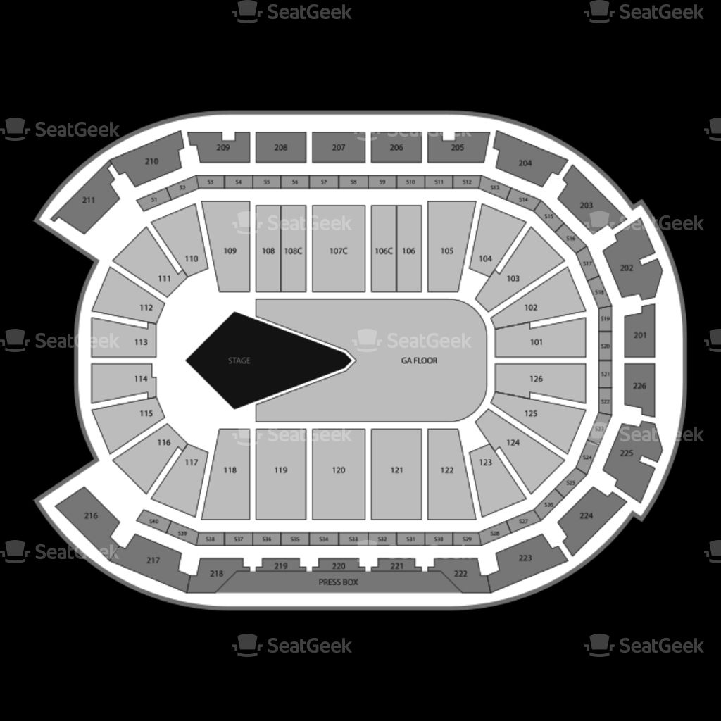 Giant Center Seating Chart Map Seatgeek Regarding Giant Center