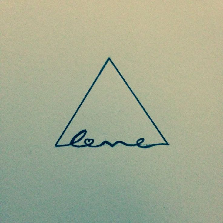 Another Writing Triangle Tattoo Ideas Pinterest Triangles