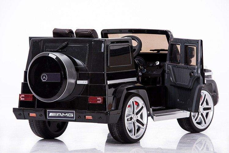 Mercedes Benz Big Remote Control Electric Ride On G55 Amg G Wagon For Kids W Rubber Tires And Opening Doors Toy Cars For Kids Kids Power Wheels Mercedes