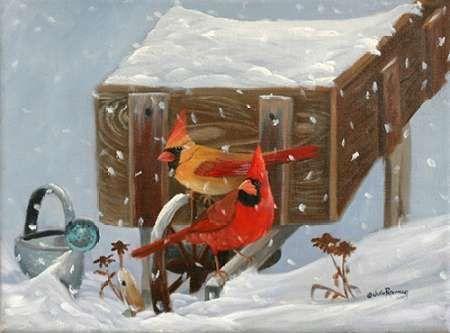 Winter Garden and Cardinals