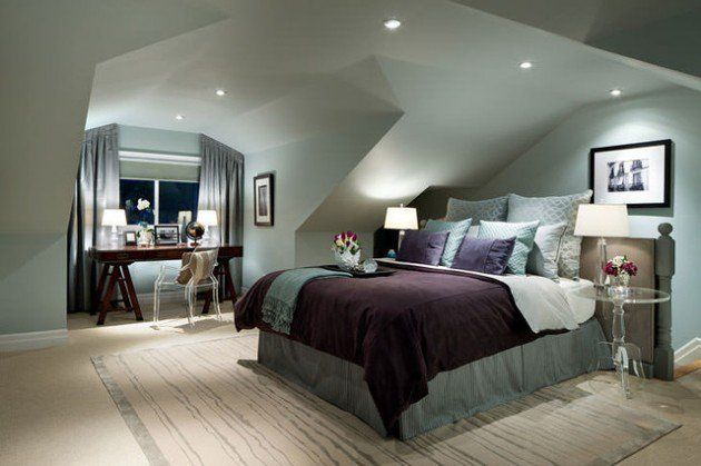 26 Brilliant Bedroom Designs Ideas with Sloped Ceiling