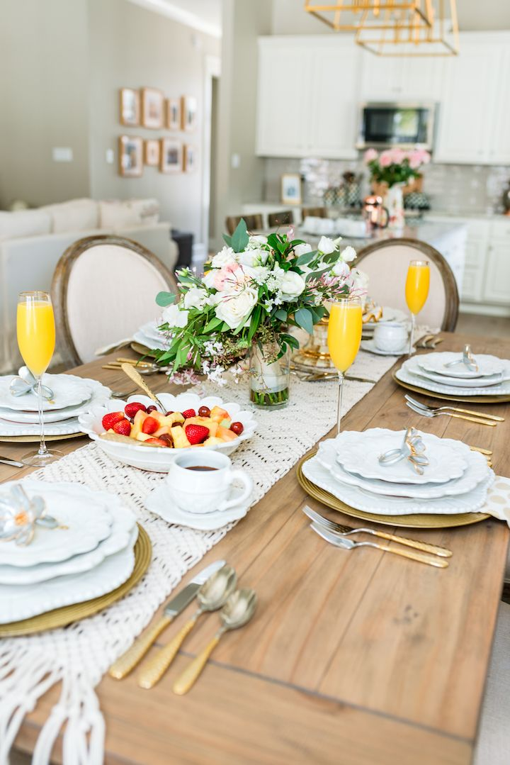 Bridal Brunch Table Setting with MacKenzie-Childs | Brunch table setting Brunch table and White dinnerware : table setting for brunch - pezcame.com