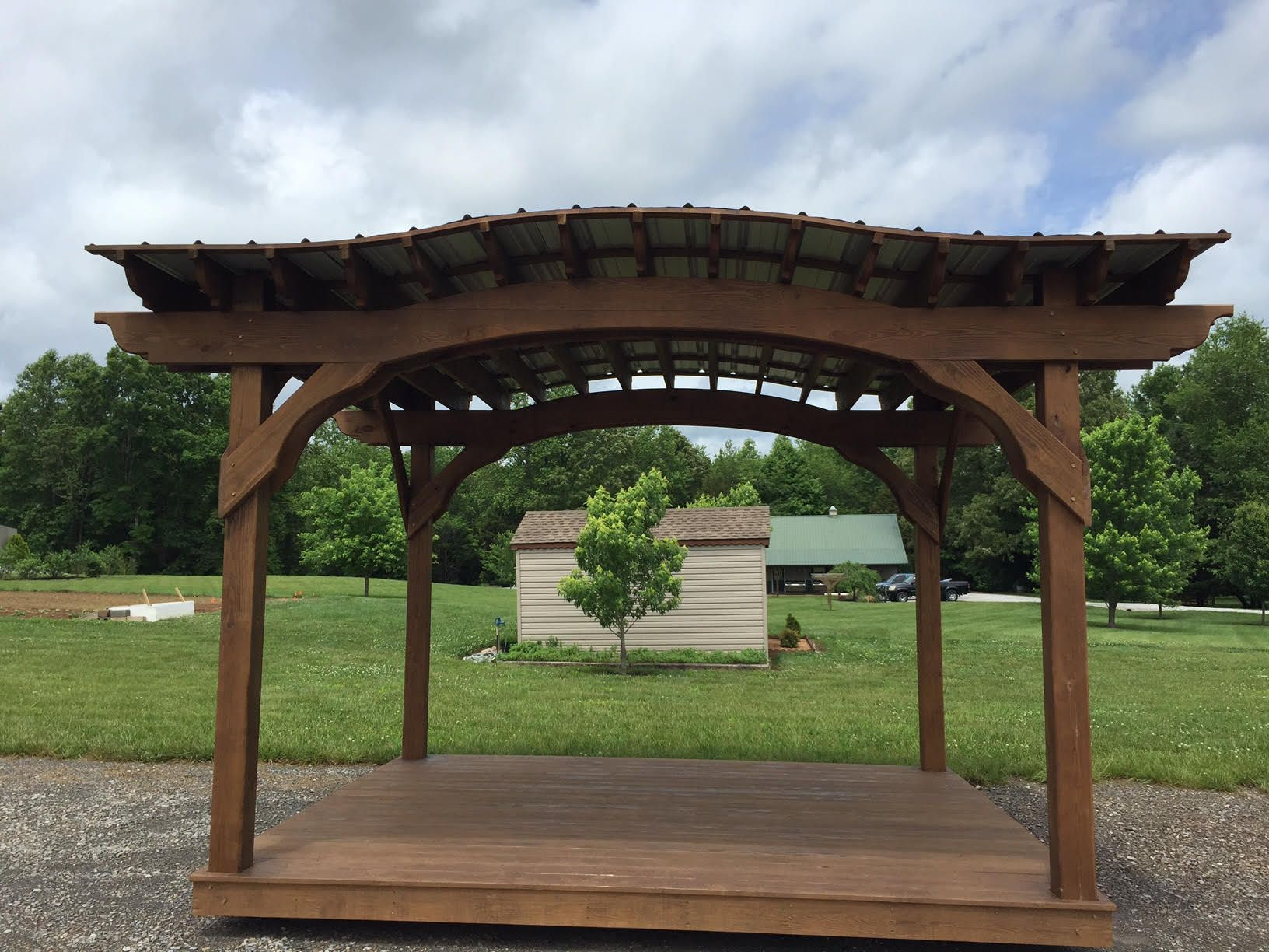 10 12 Arch Pergola With Roof Floor Tennessee Pergolas Pergola Pergola With Roof Flooring