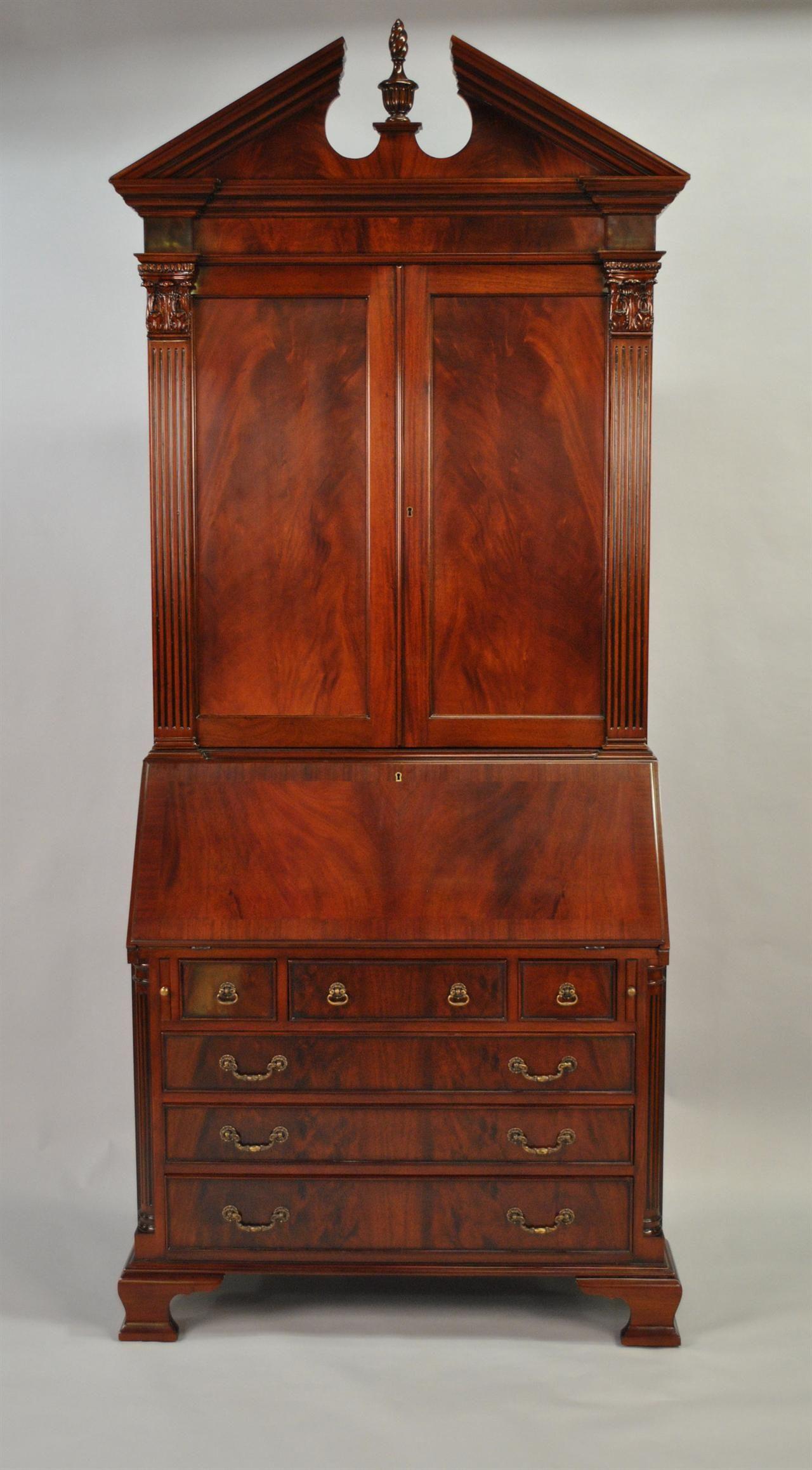 antique Colonial mahogany secretary desk, now THIS is furniture! - Antique Secretary Desk Colonial Secretary Desk, Mahogany Secretary