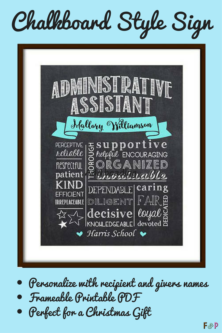 What a great gift for your administrative assistant! Personalize it ...