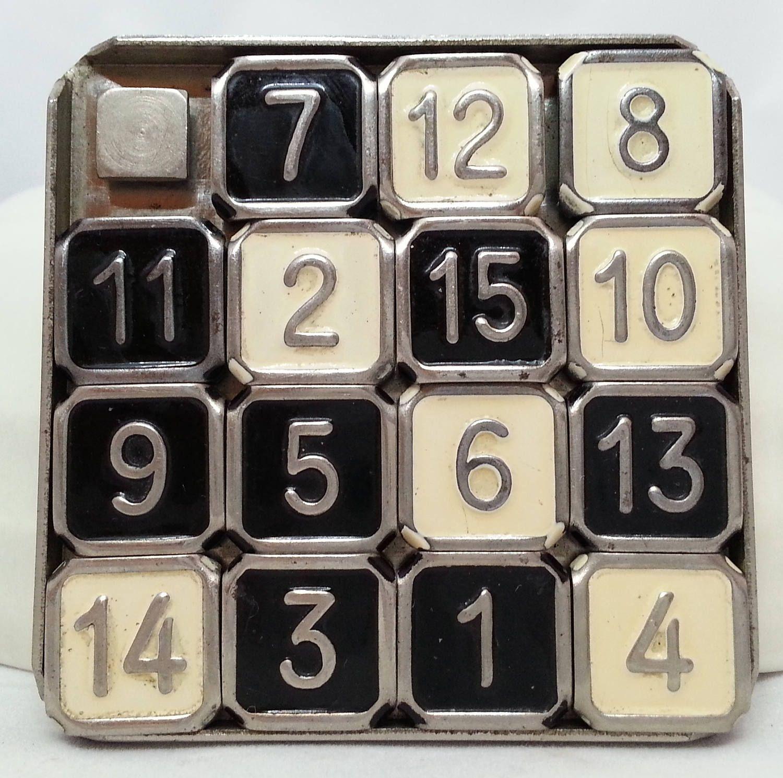 Modern Imp Sliding Number Puzzle, Vintage Game Vintage
