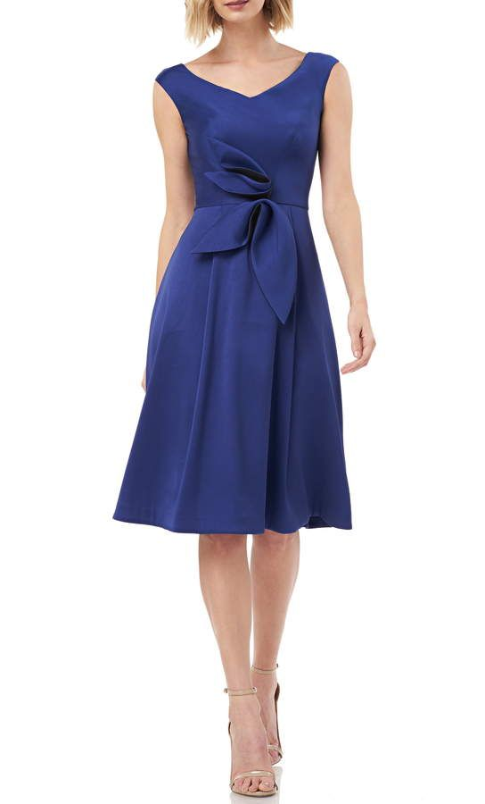 6b4b2579fa618 Kay Unger Sleeveless Stretch Mikado Fit & Flare Dress in 2019 ...