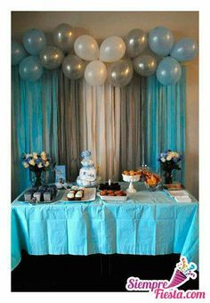 Adornos Para Baby Shower Hombre.Hombre Babies Shower Ideas Baby Shower Balloons Baby