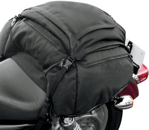 T Bags Falcon Black Tail Bag For Harley Davidson And Metric