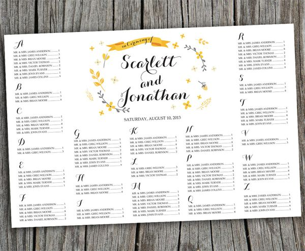 Wedding Table Seating Chart Google Search