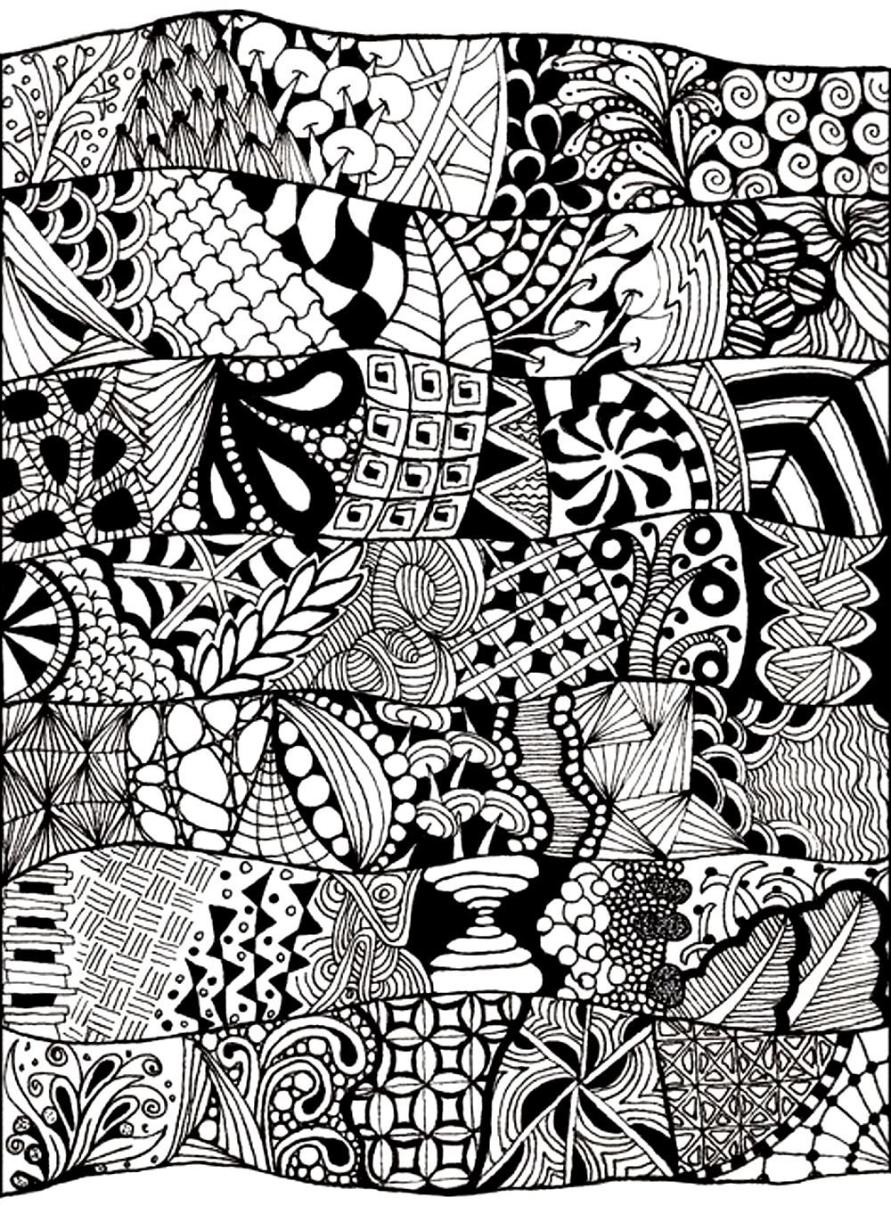 Free coloring pages for adults abstract - Free Coloring Page Coloring Adult Zen Anti Stress Abstract