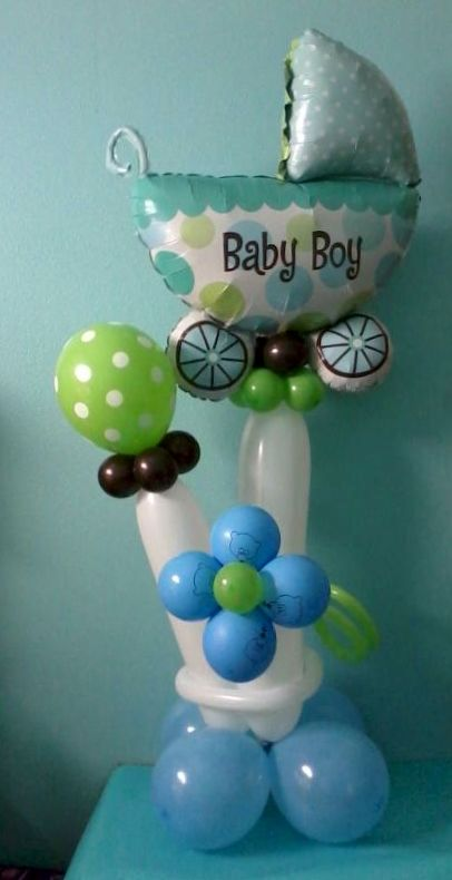 Baby Boy Balloon Arrangement By Inflated Expressions Party Ideas