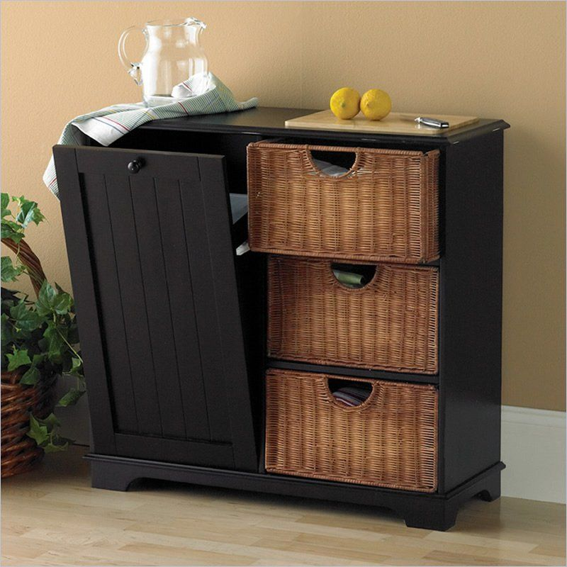 Holly And Martin Wiesner Trash Bin Storage Table In Black